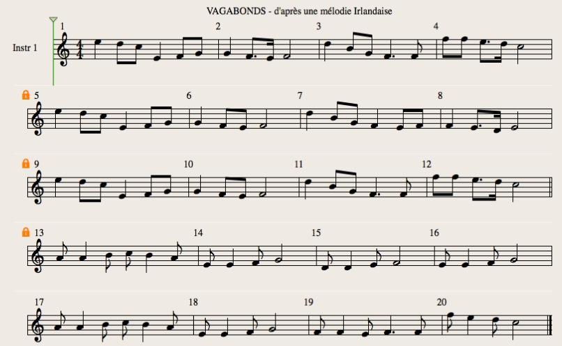 partition flute irlandaise titanic